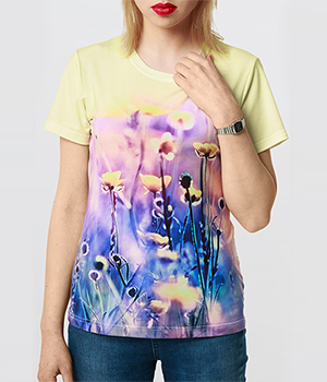 T-shirt damski sublimacyjny fullcolor cotton touch