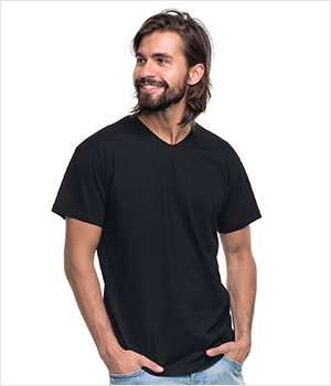 T-shirt PROMOSTARS V-neck men 160G