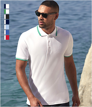 Koszulka Fruit of the loom Polo z Paseczkami men 170G